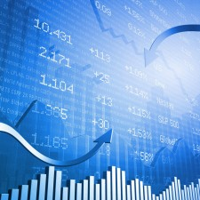 Stock Indicators with 3D Up Arrows and Down Arrows